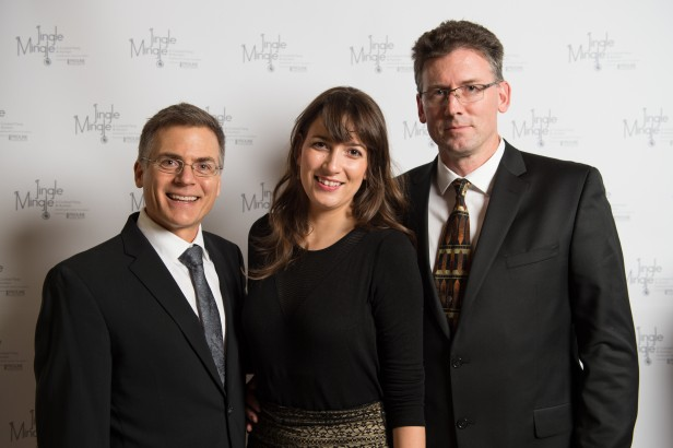 Left to right: Dr. Brad Nelson BCCA (Director and Distinguished Scientist) - Victoria, Sanja Simic RLCF Executive Director, Dr. Rob Holt BCCA (Head of Sequencing, Michael Smith Genome Sciences Centre) - Vancouver