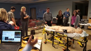 Patient simulator demo performed onsite at Royal Inland Hospital (RIH)