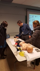 Patient simulator demo performed onsite at RIH
