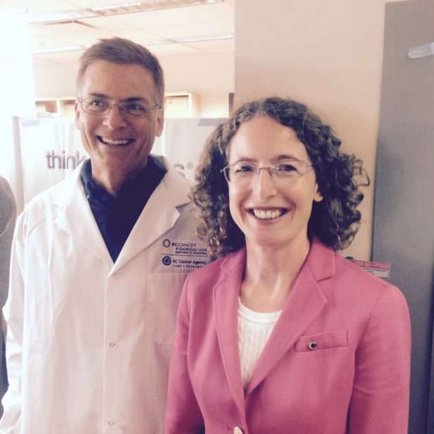 Brad Nelson (BC Cancer Agency) and Sara Roth (BC Cancer Foundation) at the opening of Conconi Family Immunotherapy Lab.
