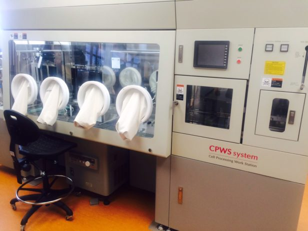 Some of the equipment at the Conconi Family Immunotherapy Lab.